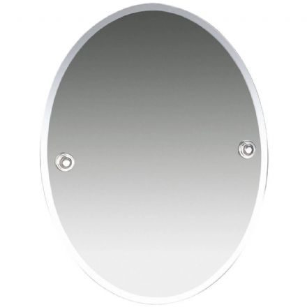 Miller Oslo Chrome Oval Bevelled Mirror